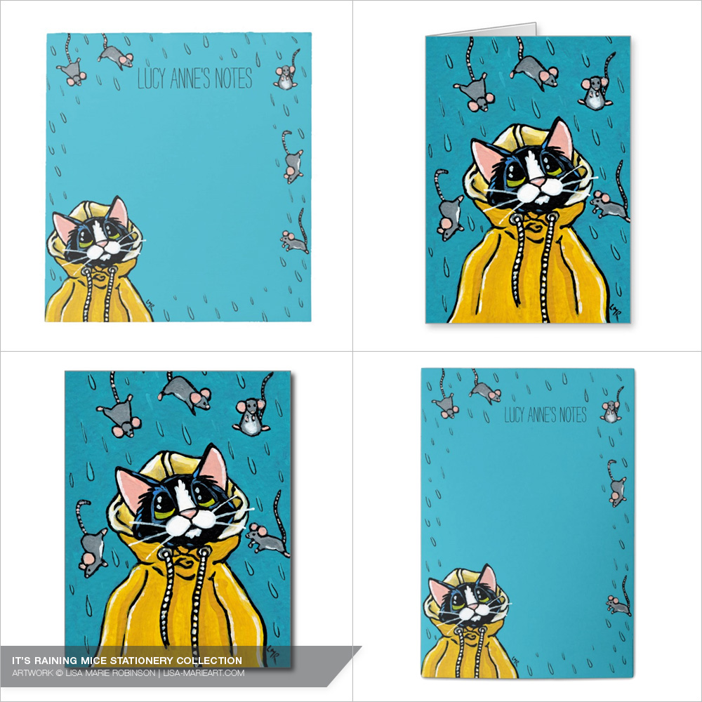 It's Raining Mice Stationery Collection