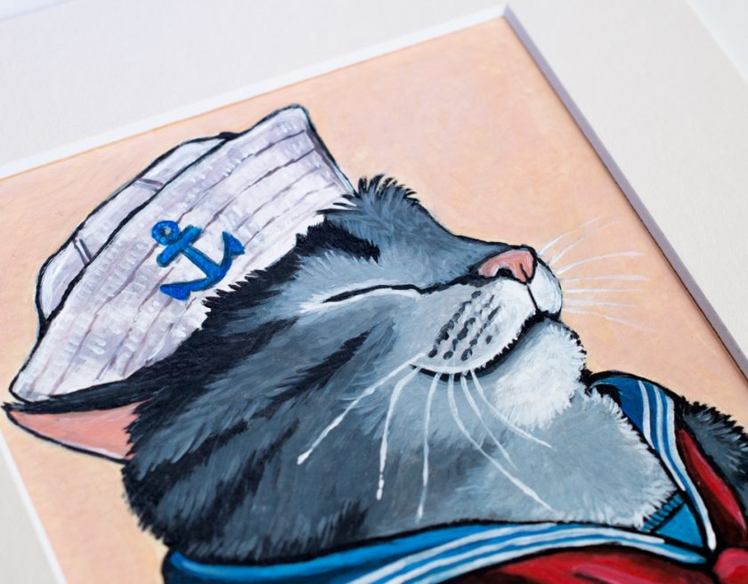 Sailor Cat by Lisa Marie Robinson
