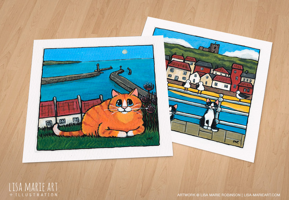 Whitby Cat paintings - Whitby Galleries July 2016