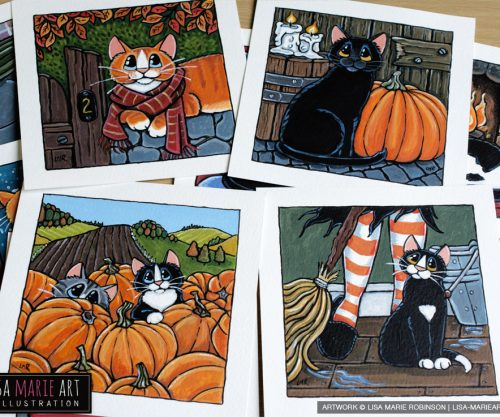 Halloween Cat Paintings Whitby Galleries October 2016