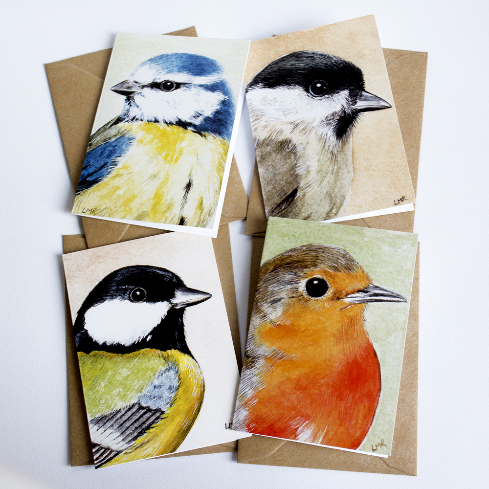 A7 Mini British Garden Birds Notecard Set