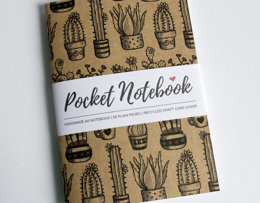 Handmade Cactus Notebook