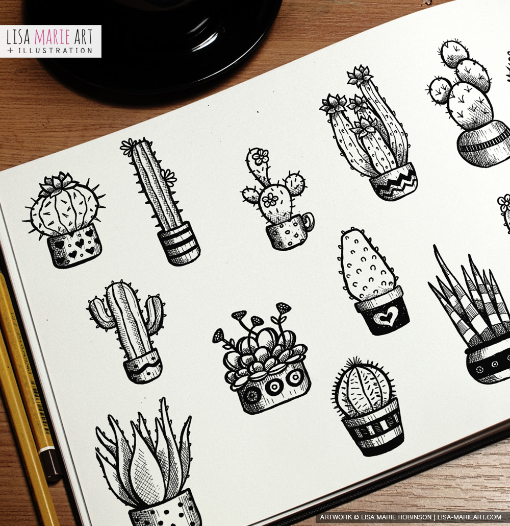 Cacti Ink Sketches