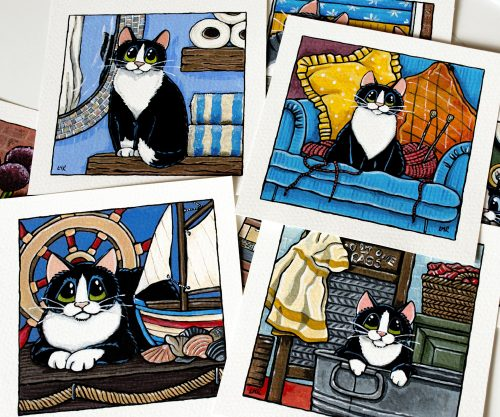 Whimsical Cat Paintings Whitby Galleries March 2017