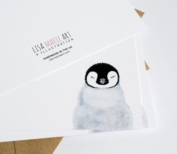 Sleepy Penguin Notecards (Flat)