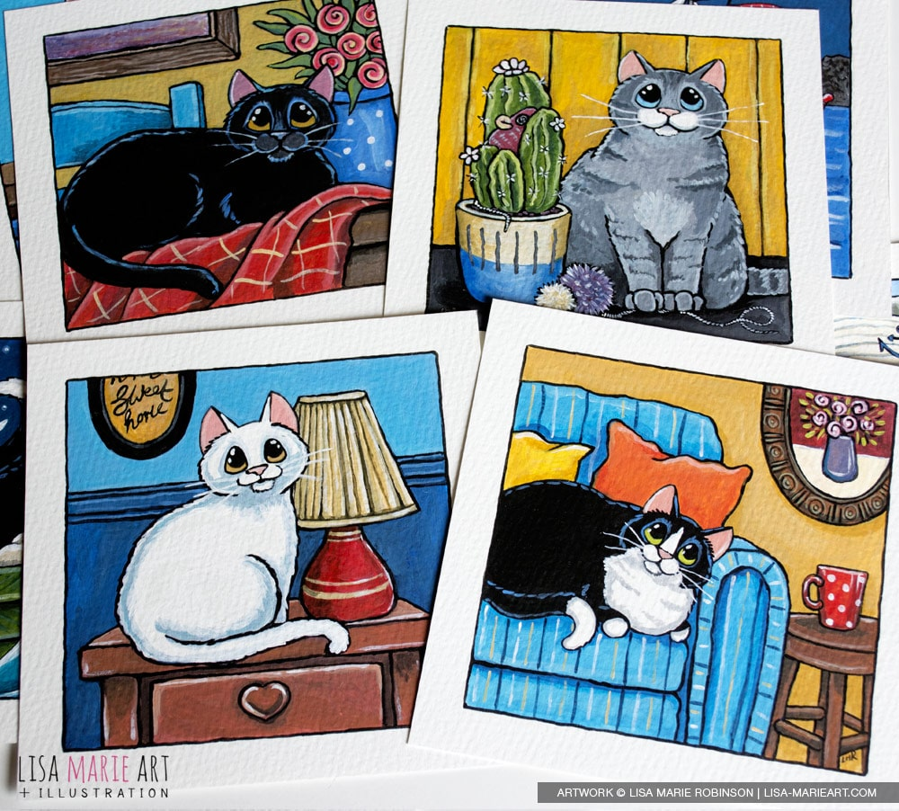 House Cat Paintings for Whitby Galleries
