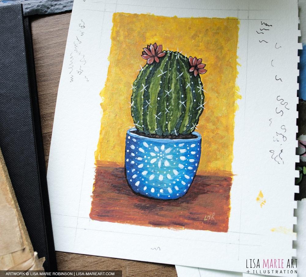 Cactus in Pot - Work in Progress