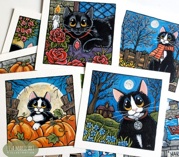 Autumn Cats and Gothic Cats