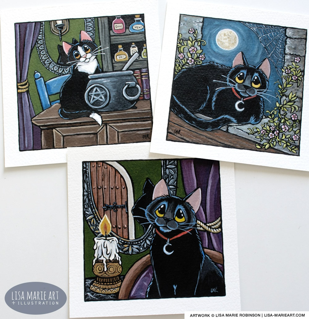 Gothic Style Cat Paintings - Whitby Galleries Oct 2017