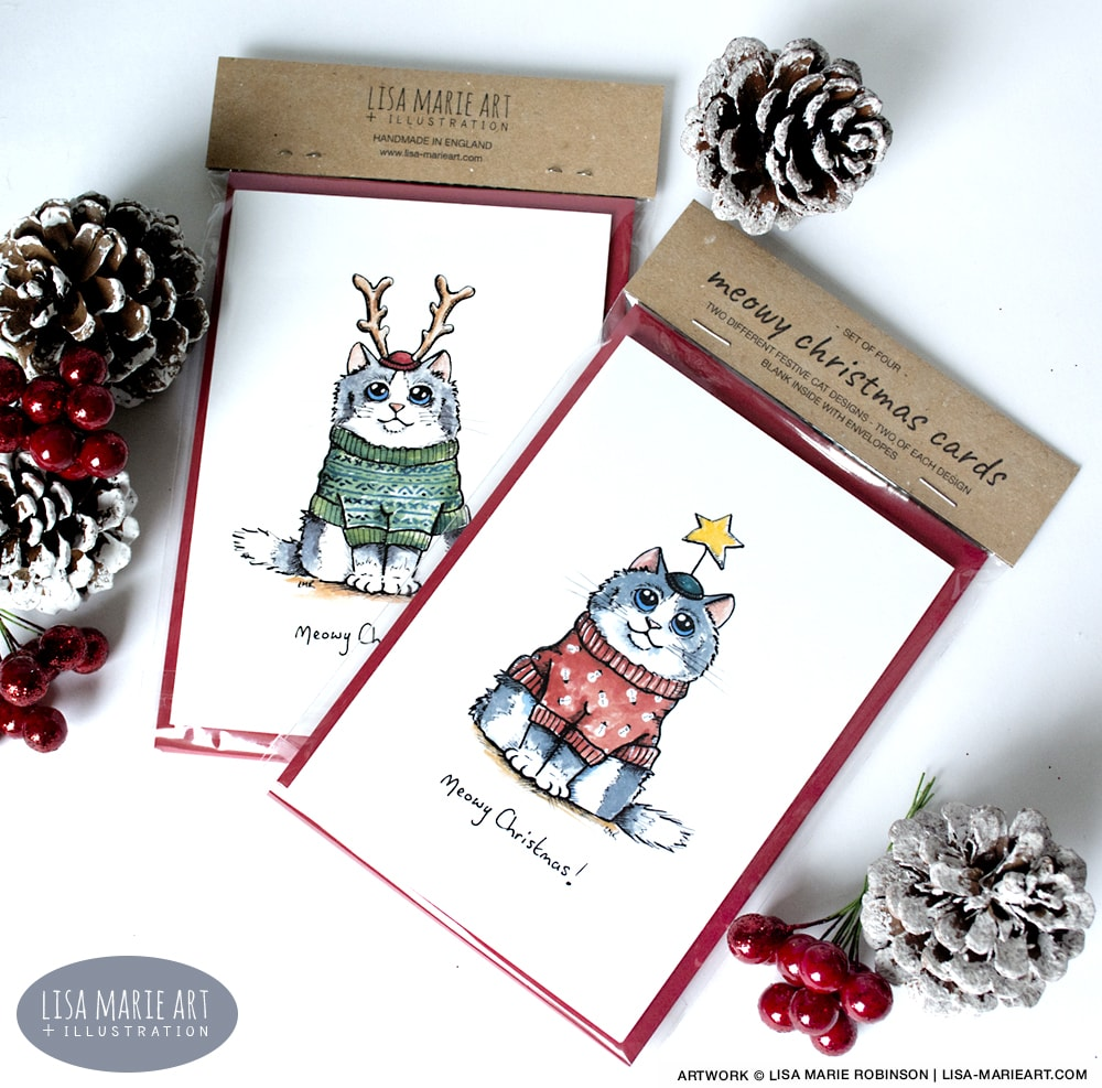 Cat Meowy Christmas Cards