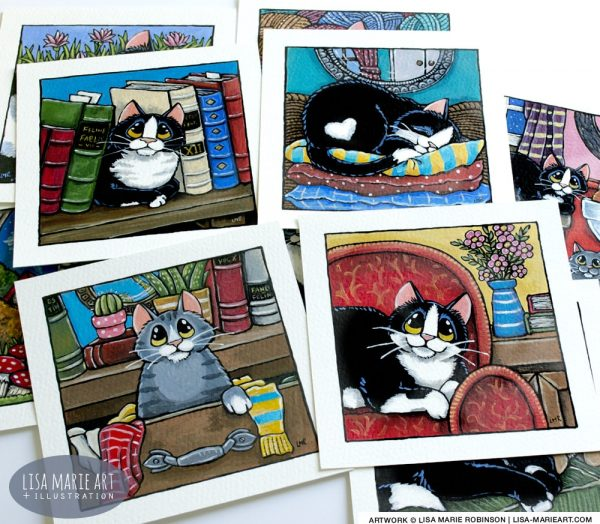 Colourful Cats - Whitby Galleries Jan 2018