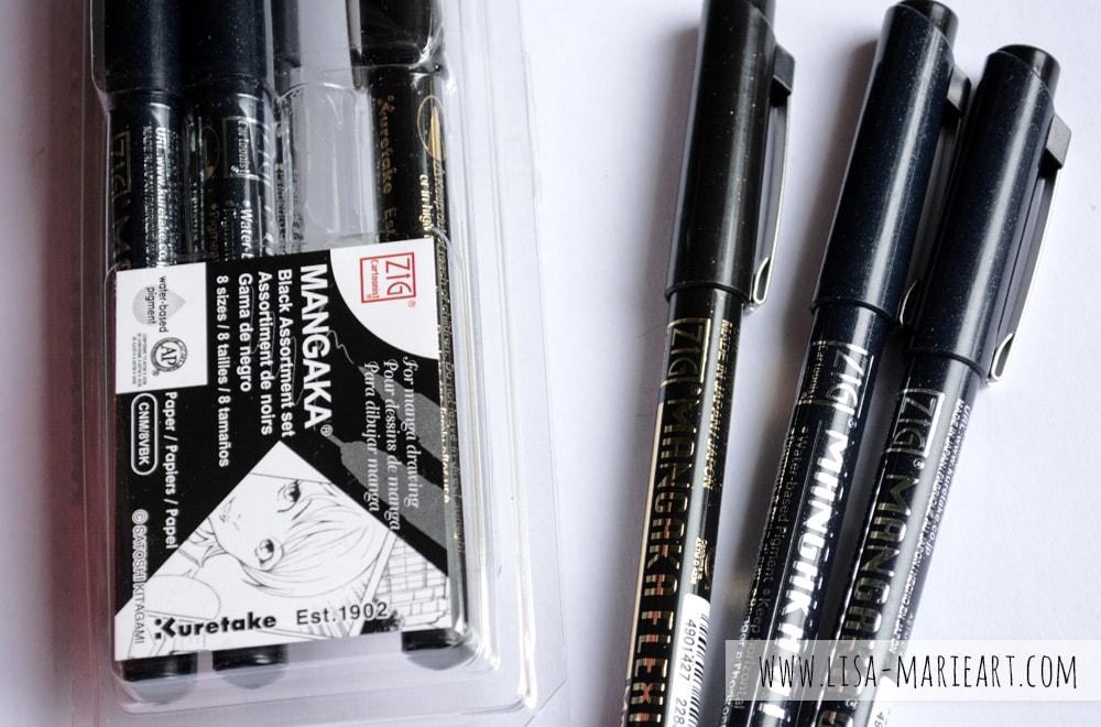 Kuretake Mangaka 8 Pen Set