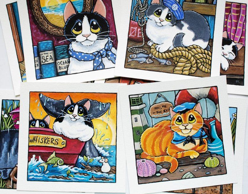Sailor Cats Illustrations
