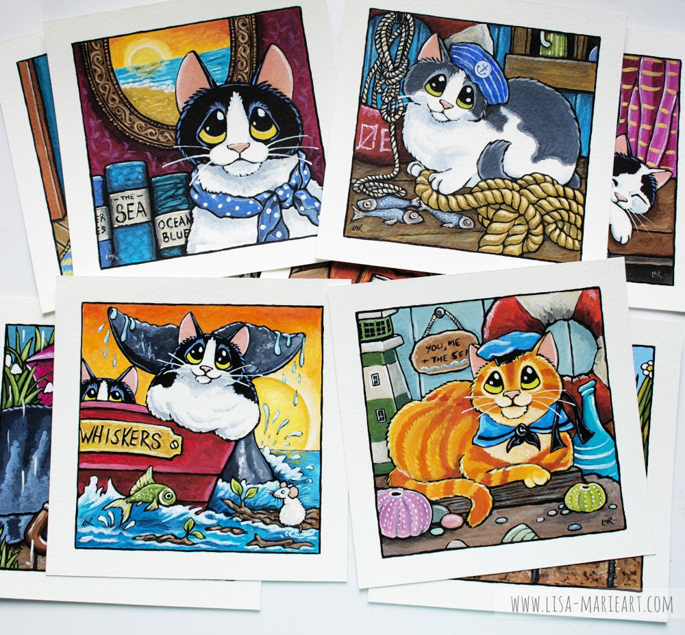 Sailor Cats Illustrations