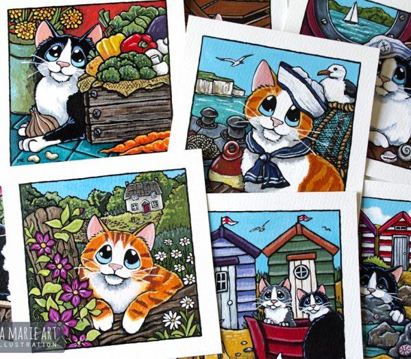 Summer Themed Cat Art