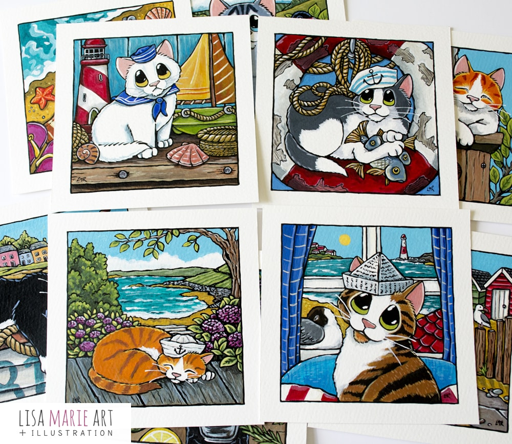 Sailor Cat Illustrations - Whitby July 2018