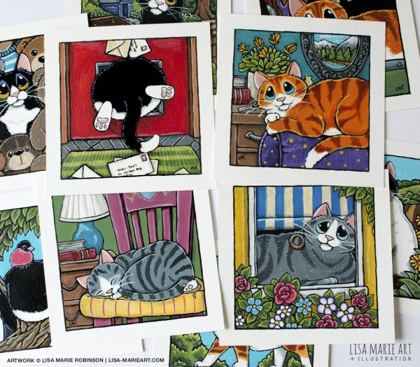 Inddor Cat - Illustrations at Whitby Galleries