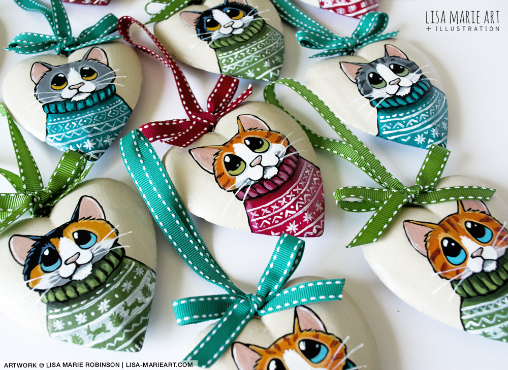 Cats in Christmas Sweaters Decorations