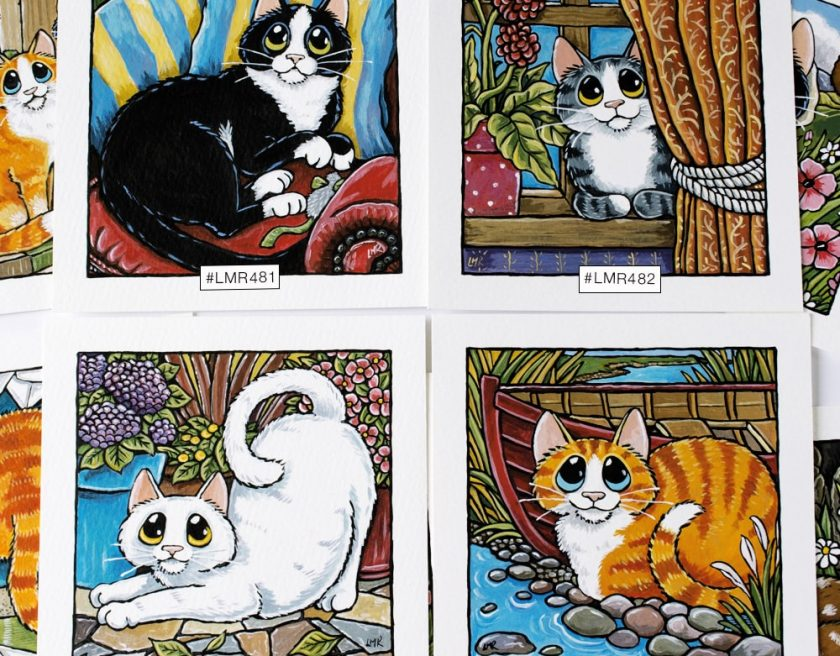 Cat Illustrations at Whitby Galleries