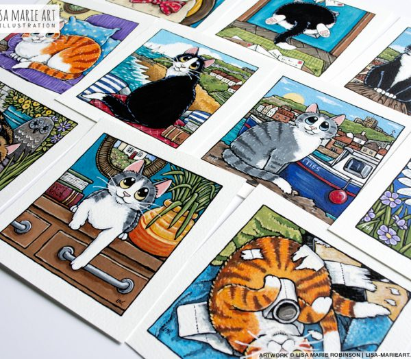 New Cat Illustrations at Whitby Galleries