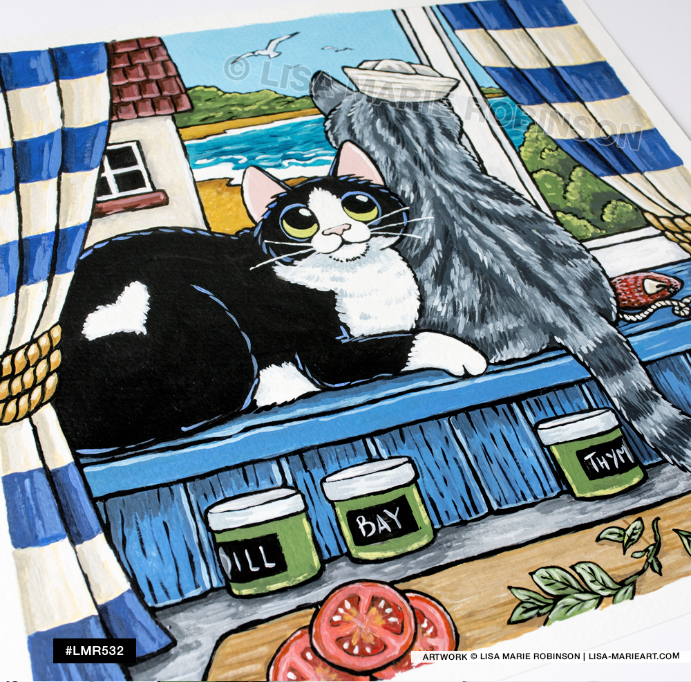 New Cat Artwork at Whitby Galleries Cat Artwork at Whitby Galleries