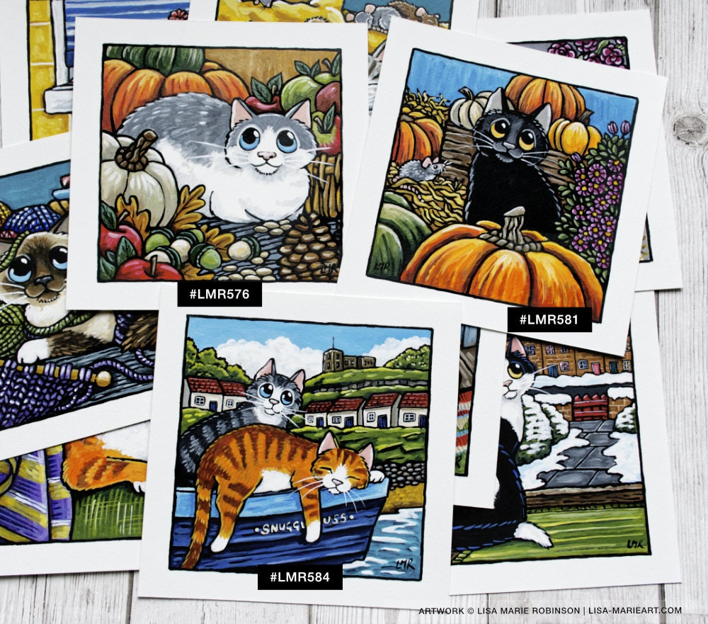 Autumnal Cat Art at Whitby Galleries