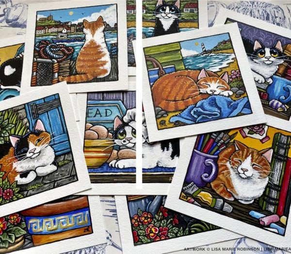 Cat Paintings at Whitby Galleries June 2021